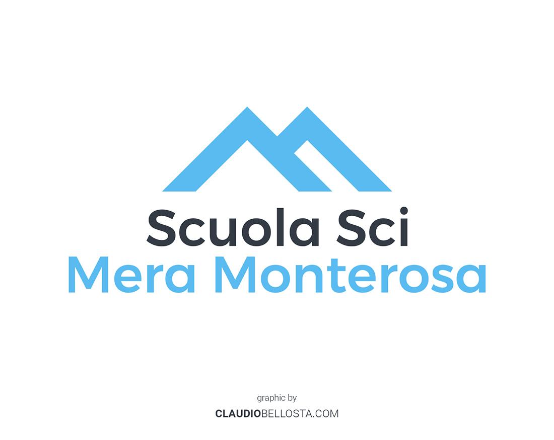 Scuola sci Mera Monterosa portfolio Claudio Bellosta studio
